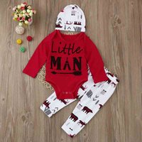 Wholesale Tracksuits For Baby Girls - Ins Hot Christmas Long Sleeve Baby Girl Boutique Clothing Sets Casual Children Tracksuits With Hat For Fall
