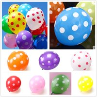 12inch Colorful Latex Polka Dot Balloon Birthday Party Праздничное украшение MIX COLOR