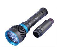 Wholesale Cheap Underwater Led Lights - Cheap Hot DV07 7*CREE XM-L2 14000Lumens L2 led diving flashlight torch 200M Underwater Waterproof LED Flash Light Lantern DHL Fast Shipping