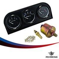 Wholesale Honda Auto Racing - PQY RACING-52mm Triple gauge 3 in 1 (Oil press Gauge+Water Temp Gauge+Volt Meter) Sensor 52mm Auto Gauge Car Meter PQY-TAG02