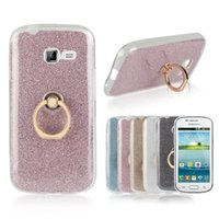 Wholesale Cover Case Galaxy Trend Duo - Glitter Bling Soft TPU For Samsung Trend Duos S7262 Case For Ace 4 LTE G313 Galaxy Core 2 Xcover 4 Stand Holder Cover