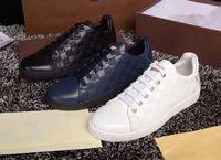 Wholesale Handmade Flat Shoes - 2016 New Designer Handmade Luxury Men Leather Sneaker Shoes France Strass Mens Flat Leather Sneaker Shoes for Men