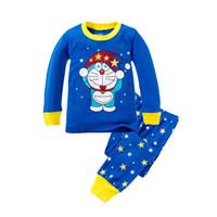 Wholesale Pijamas Boys - 6 sets New Doraemon Pajamas for Kids Spring Autumn Baby Boys Cotton Girls Childrens Sleepwear Pyjamas Pijamas Sets