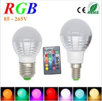 Wholesale Spot Luz - 3W RGB Lampada LED Bulb E27 85-265V RGB LED Lamp E27 220V 110V Spotlight Lamparas LED Light Bulb E14 Spot Luz Christmas Lampadas