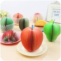 Wholesale Fruit Notepad Kawaii Fruit Memo Pad Note Cute Sticky Paper Scrapbooking Sticker Post It Note Creative Korean Stationery
