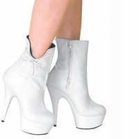 Personnaliser Extreme High Heel 15cm Bottes sexy en cuir doux avec 5cm Plate-forme Sexy Fetish Europe Boots D0162