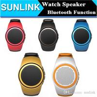 Wholesale Phone Watch Design - B20 Bluetooth Sport Speaker Stylish Watch Design Portable Super Bass Outdoor Speakers Wrist Bracelete With Built-in Microphone Hands Free