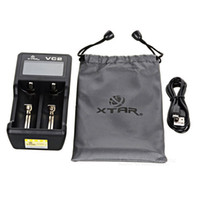 baterías xtar al por mayor-Cargador de batería dual 18650 - Auténtico cargador de batería USB xtar VC2 para LG HG2 HE4 HE2 Samsung 25R 30Q - Pruebe la capacidad de la batería