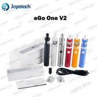Wholesale Ego V2 Mega - Original Joyetech eGo One V2. XL Kit 1500mAh 2200mAh Battery 2ML Atomzier with CL Pure Cotton Coil VS Kanger Evod Mega Electronic Cigarettes