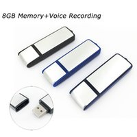 Wholesale Usb Flash Drive Voice Recorder - USB Disk Voice Recorder With 8GB Memory Spy Hidden Digital Voice Recorder Flash Drive Hidden Recording Camcorder 2017 New