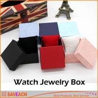 Wholesale Paper Presents - Practical Jewelry Box Present Gift Boxes for Bracelet Bangle Necklace Earrings Watch Case with Foam Pad Free Shipping