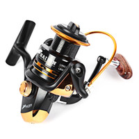 Wholesale Winder Reels - 13BB Metal Oxide Spinning Fishing Wire Winder 2000-5000 Fishing Reels Automatic Folding Handle Spinning Sea Lake Fishing Fahion +B