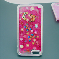 China Wholesale Acessório de telefone celular Liquid Star Sand Quicksand Case para iPhone 5/6 Cell Phone Cover Case