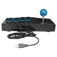 mejores controladores de pc al por mayor-2017 Best Selling USB con cable controlador de juego Arcade Fighting Joystick Stick para PS3 Android Computer PC Gamepad