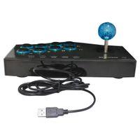 melhor controlador de jogo android venda por atacado-2017 melhor venda usb wired game controller arcade luta joystick vara para ps3 android computador pc gamepad