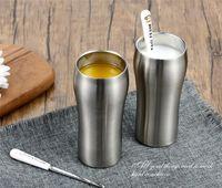 Wholesale Iron Vacuum - 430ml Stainless Steel Tumbler Large Beer Cup Double Wall Stainless Steel Beer Mug Coffee Cup Vacuum Insulated Drinkware