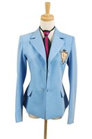 Wholesale High School Tie - 2016 Hot Sale Ouran High School Host Club Haruhi Fujioka Cosplay Costume Uniform Blazer Jacket+Tie Halloween Carnival Women Men