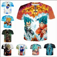 Mode Kleidung Anime Dragon Ball Z Super Saiyan Casual T-Shirt Frauen Männer 3D T-shirt Harajuku t-shirt Sommer Stil Tops 2017.8.13.015