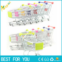 artwares Cute Cart Handyhalter Stifthalter Mini Supermarkt Büro Handwagen Shopping Utility Cart Phone Holder