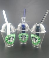 Wholesale new cup bong for sale - Group buy New Starbuck Clear Color Glass Bong Inches High Small Bong mm Joint Cup Shape Glass Water Pipes Fine Workmanship Glass Hookah Shisah