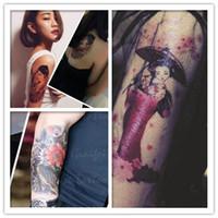 Wholesale Good Tattoo Arm - 2016 Wrist lifelike Flowers arm Tattoo Design Waterproof men&women Temporary Tattoo Sticker For Body Art Flesh Tatoos quality good !