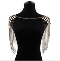 Wholesale Romantic Product - Fashion jewelry influx of people single product temperament personality multi - layer sequins tassel shoulder chain body chain