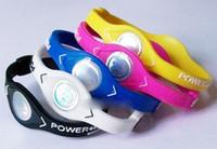 braceletes do wristband do silicone da energia poder venda por atacado-Nova moda Silicone banda de energia pulseira pulseiras pulseiras de Silicone de silicone de borracha de silicone jóias pulseiras bandas 5 tamanho