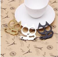 Wholesale Cute Cat Key Chains - Stylish Cute Shake Its Head Cat Stainless Steel Key Ring Key Chain Gift MRG