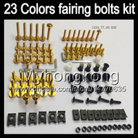 Wholesale Screw Fairings - Fairing bolts full screw kit For KAWASAKI NINJA ZX6R 07 08 ZX-6R ZX 6 R 07-08 ZX 6R ZX6R 2007 2008 07 Body Nuts screws nut bolt kit 23Colors