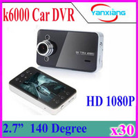 Wholesale Free Dashboard Camera - 30pcs 2016 New 2.7'' K6000 HD Car DVR Vehicle Camera Video Dashboard Recorder Night Vision Car Styling Free DHLShipping ZY-DV-03