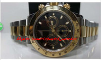 поставщик мужских стальных конструкций оптовых-Фабрика поставщик роскошные часы 116523 черный циферблат из нержавеющей стали браслет автоматические мужские мужские часы