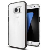 Wholesale Galaxy Note Thin Case - for Samsung Galaxy Note 7 S7 S7 edge S6 edge Phone Case Combined Frame Thin Transparent Cover Shockproof Mobile Bumper Invisible Hornet