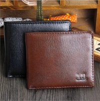 Wholesale Japan Korean Men Fashion Wholesale - 2016 Export New Fashion Men Bifold 2 Fold Black Coffee Color Optional Quality Pu Leather Designer Card Holder Purse Wallet Free Shipping