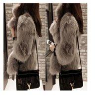 Wholesale Leopard Fur Button Jacket - Women white gray Fur Coat Faux Fur Outerwear Short Winter Fur Overcoat Large Size Fur Jacket