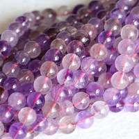 """Wholesale Super Melody Stone Bracelets - Wholesale Genuine Natural Purple Super Seven Super 7 Round Loose Small Beads Melody Stone Fit Jewelry Necklace Bracelets 16"""" 04148"""