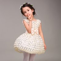 Birthday Party Dress Nouvelle Collection courte Longueur robe de bal Little Girl avec ceinture Designer Fashion Style Custom Made