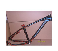 Wholesale Bicycle Frames Cube - mountain bike mtb CUBE frame super light aluminum alloy 27.5 inch 16 17+ tail hook Seat tube clip bicycle+Freeshipping