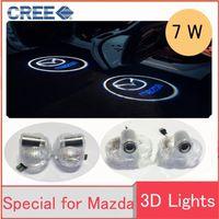 Wholesale Door Logo Light Mazda - Car style For Mazda 8 Core-wing CX-9 Play Wireless led car door welcome light projector logo ghost shadow in the door lamp