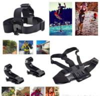Wholesale Bobber Helmets - 12 In 1 Travel Kit Wrist Strap +Helmet Mount Head Chest Belt Mount +Bobber For 4K Action Camera