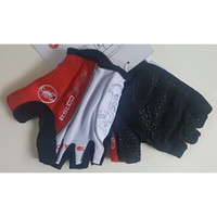 Wholesale Road Bicycle Shorts - Outdoor 3Colors Cycling Gloves Shockproof Bicycle Road Riding Half Short Finger Gloves Ciclismo Fitness Gym Racing Sports 3D GEL Anti-slip