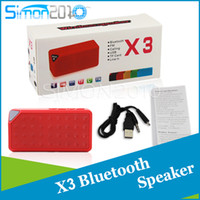 Wholesale Iphone Chargeable - Mini Bluetooth Speaker X3 Car Speakers wireless Handsfree TF FM Radio Built in MIC MP3 for iphone With chargeable battery