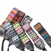 Wholesale Slr Sling - Universal Camera Strap Colorful Durable Soft Cotton Vintage Shoulder Neck Sling Camera Straps Belt For Canon Nikon Sony SLR DSLR