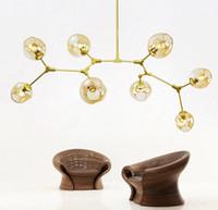 Wholesale Globe Pendant Lighting - Bracket pendant lamps Lindsey adelman globe secondary bubble chandelier 110v 220 v lighting modern chandelier light