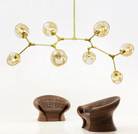 Wholesale Brackets Lights - Bracket pendant lamps Lindsey adelman globe secondary bubble chandelier 110v 220 v lighting modern chandelier light