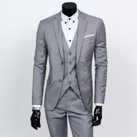 Wholesale Men S Attire - 2016 Hot groom wedding dress suit A three-piece men suit business attire