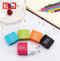 Wholesale colorful adaptor online - Colorful US EU Plug USB Wall Chargers V A Adapter Travel Convenient Power Adaptor with double USB Ports For Mobile Phone
