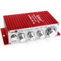 Wholesale 12v Audio Power Amp - Mini USB Audio Amplifier - 2CH Stereo HIFI Amplifier Amp 12V Auto Power Amplifier wholesale