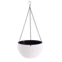 Wholesale Basket Chain - Creative Fashion Elegant Weaving DesignElegant Self Watering Hanging Flower Plant Pot Chain Basket Planter Holder with Water level gauge