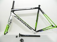 Super Six EVO Bicyle Carbon Road Frame Велосипед Green / White Frameset Wholesale + Вилка + Гарнитура + Seatpost + Clamp BB68 или BB30