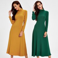 Wholesale Turtle Neck Backless Dress - Europe And The United States Women Thick Knitted Casual Dresses Autumn New High Collar Dress Backless Dress